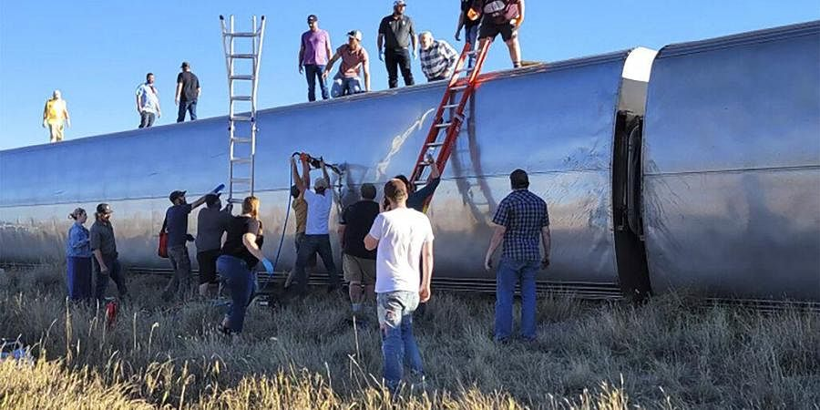 At least three people killed after Amtrak train derails in north-central Montana