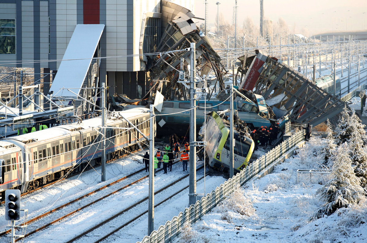Turkish train crash in Ankara kills nine, injures 50