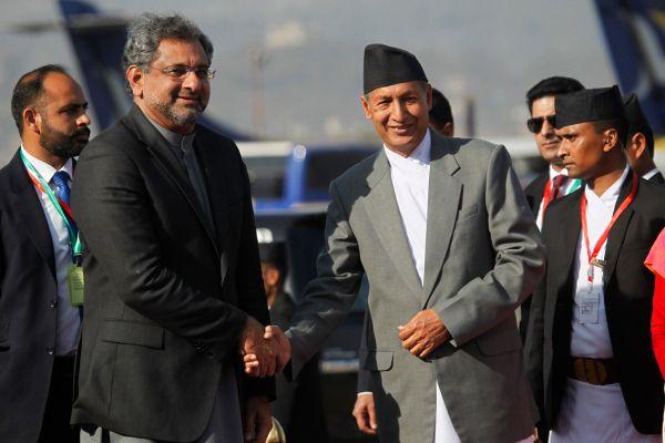 Pak PM Khaqan Abbasi arrives in Nepal