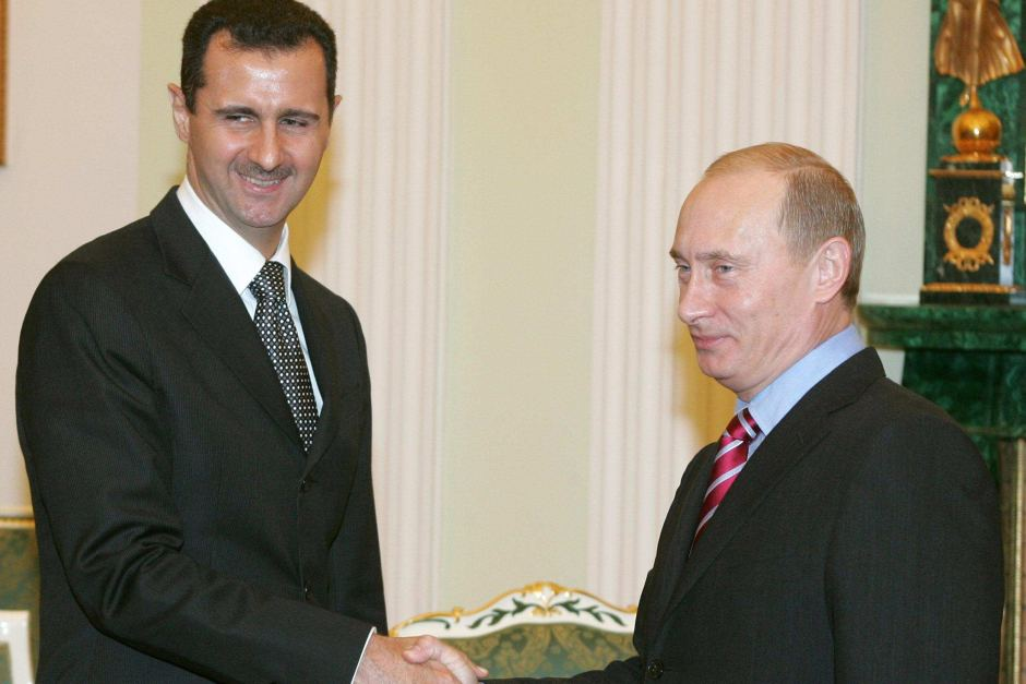Vladmir Putin meets Bashar al-Assad