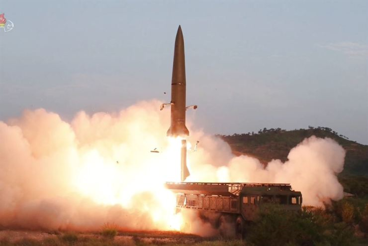 North Korea fires two short-range ballistic missiles into sea off its east coast