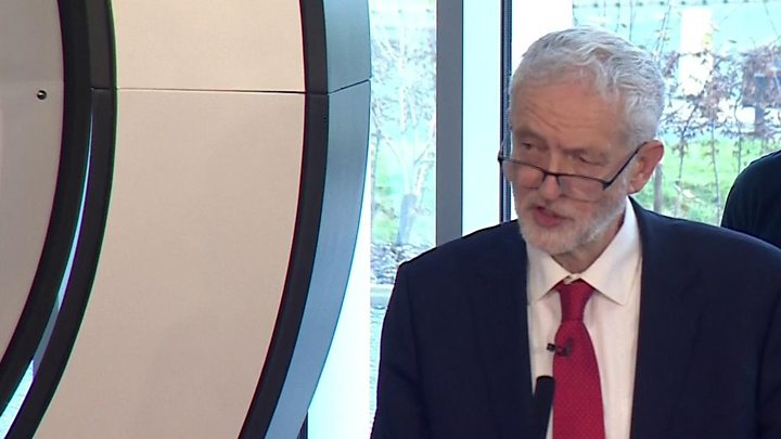 Labour Party leader calls for election to end Brexit deadlock