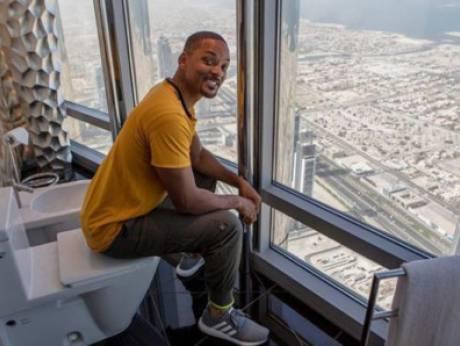 Will Smith back in Dubai, heads to Burj Khalifa
