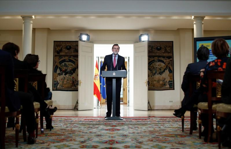 Spanish P Rajoy calls for Catalan parliament to be formed on January 17