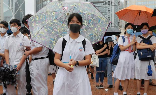 Hong Kong protests: Ten thousand students boycott classes