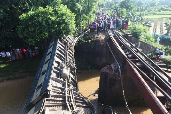 4 passengers killed in train accident in Bangladesh