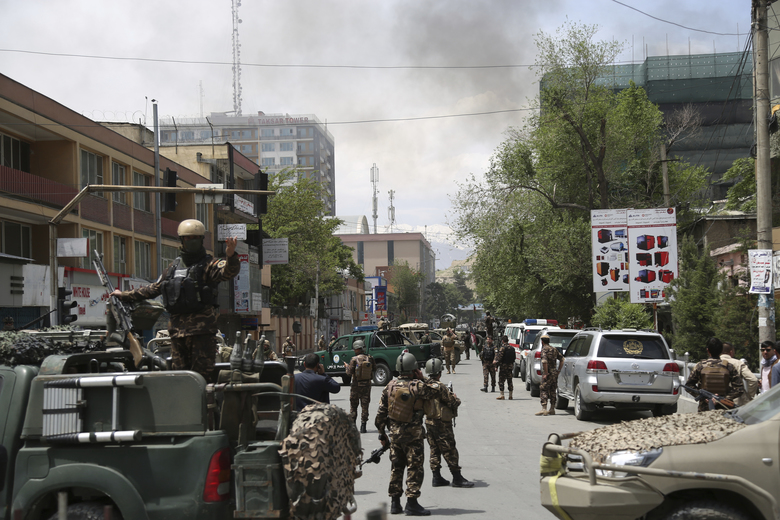 Huge blast in Afghan capital, 9 wounded