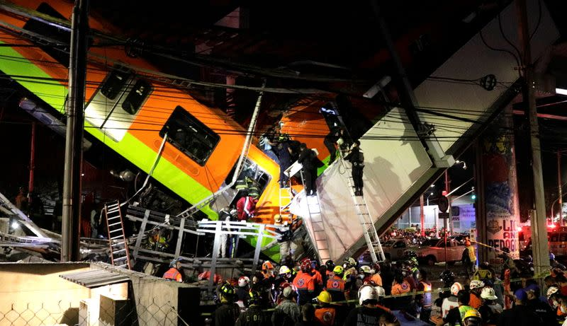 23 people dead after Mexico City rail overpass collapses