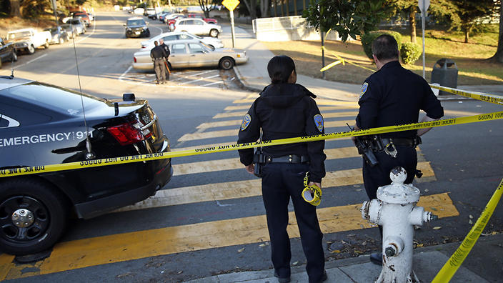Four shot outside San Francisco schools