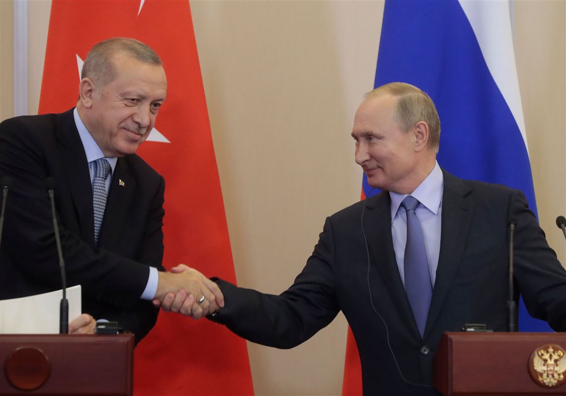 Talks between Turkish Prez Erdogan, Russian counterpart Putin underway