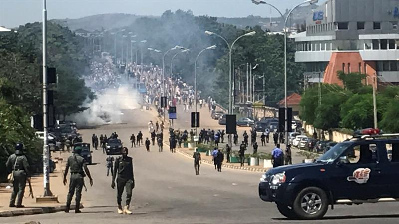 Ibrahim Zakzaky supporters clashed with security forces in Nigeria