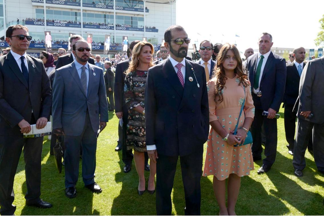 Sheikh Mohammed bin Rashid attends 2000 Guineas horse race in UK