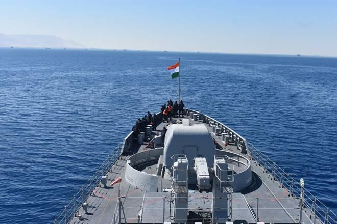 Indian Naval Ship Tarkash reaches Alexandria, Egypt