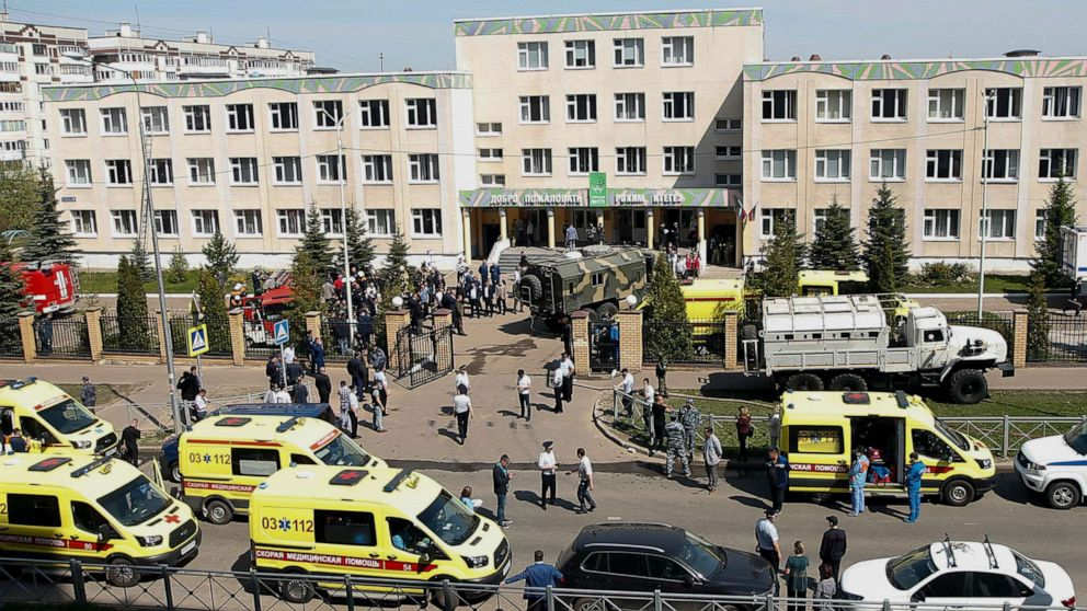 At least 8 people killed in school shooting in Kazan city of Russia