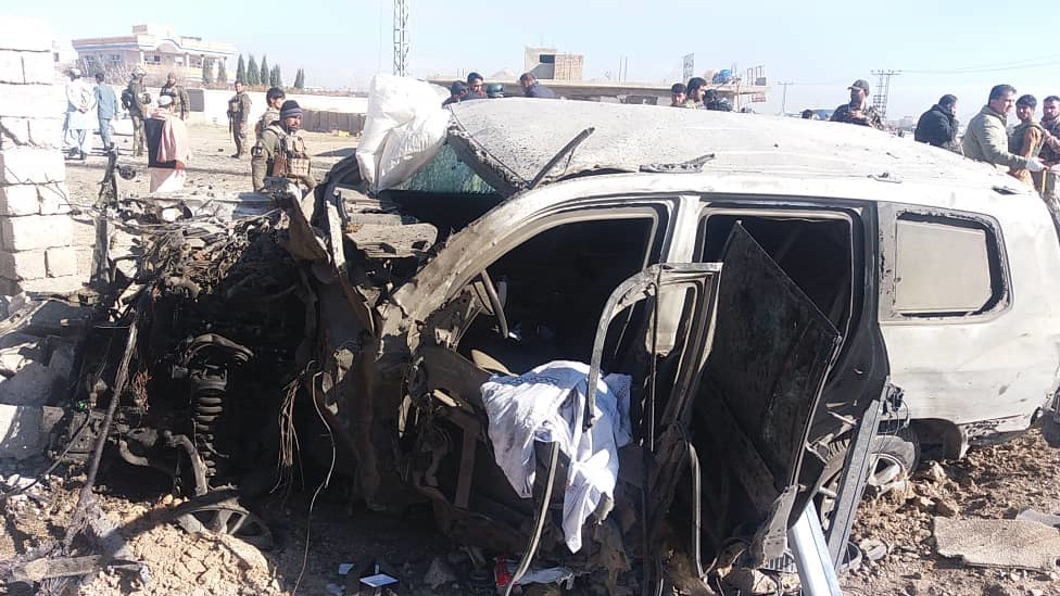 30 security personnel killed in a car bomb blast in Ghazni province in Afghanistan