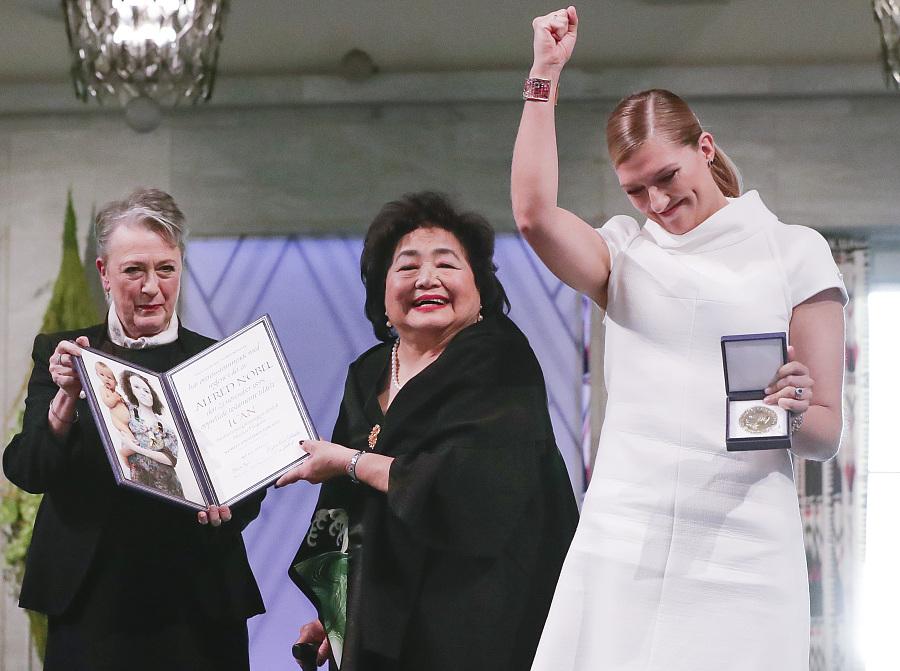 ICAN chief and Hiroshima attack survivor Setsuko receive 2017 Nobel Peace Prize for ICAN