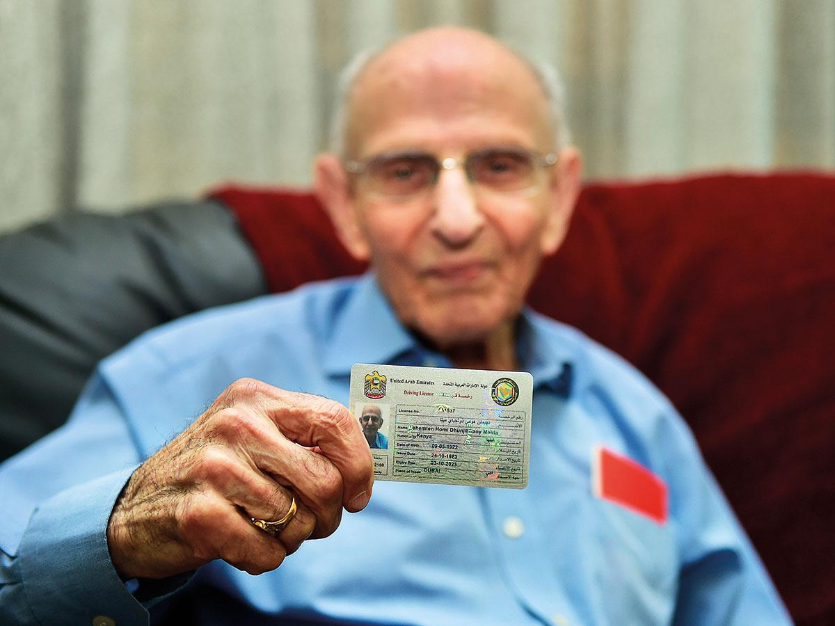 This 97-year-old in Dubai just got his driving licence renewed