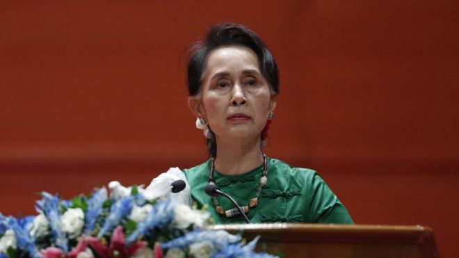 Ruling party led by Aung San Suu Kyi wins just over half seats in by-elections
