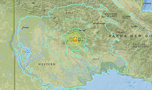 6.4 magnitude earthquake rocks Papua New Guinea