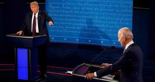 US President Donald Trump & Democratic challenger Joe Biden begin first presidential debate