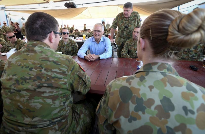 Australian PM visits troops in Iraq, Afghanistan
