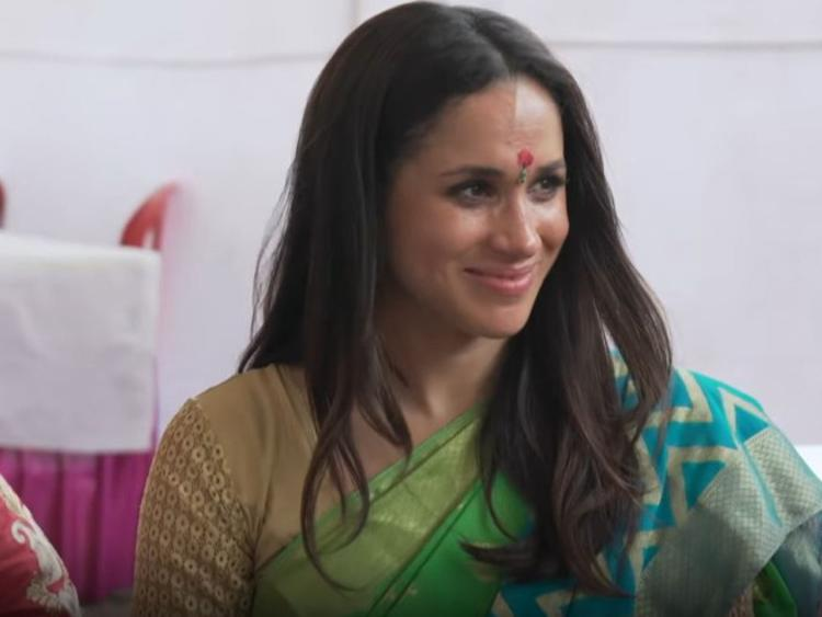 Meghan Markle wearing sari goes viral