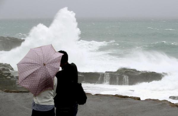 Typhoon Saola brings heavy rain in southern Japan