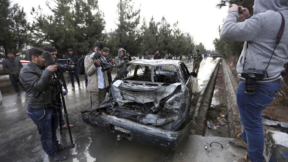 Ambulance bomb kills 40, wounds 140 in Kabul attack,Taliban claims responsibility