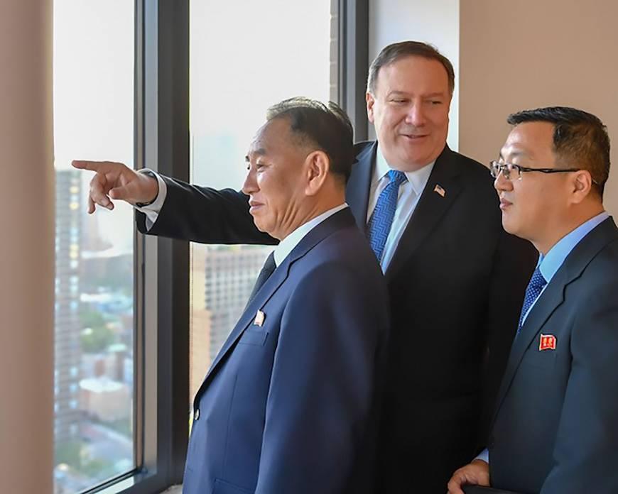 Mike Pompeo meets North Korean envoy Kim Yong Chol in New York