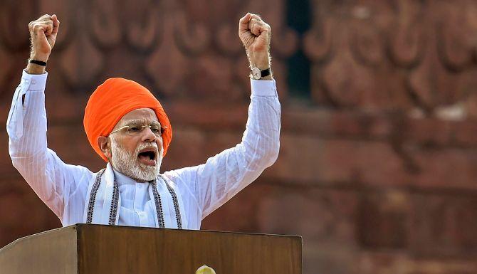 In I-day speech, Modi hails India