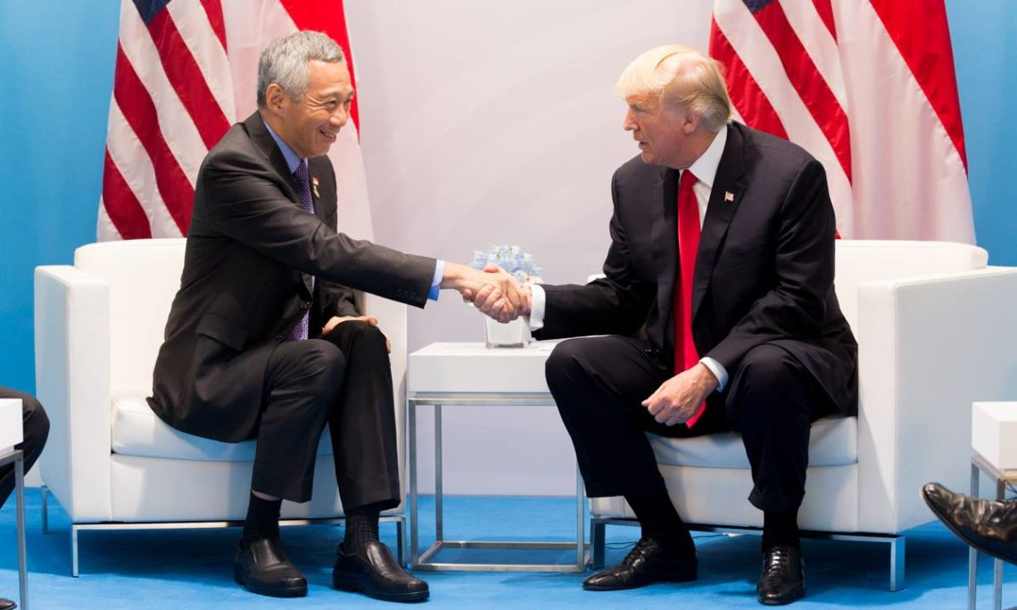Trump to hold a meeting with Singapore PM Lee Hsien Loong