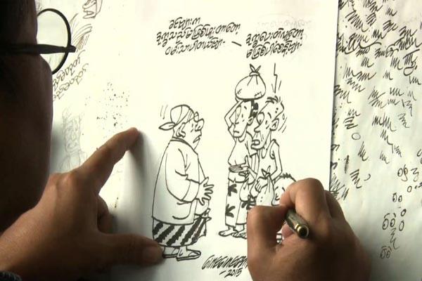 Cartoonists sharpen pencils as satire makes a comeback  Myanmar