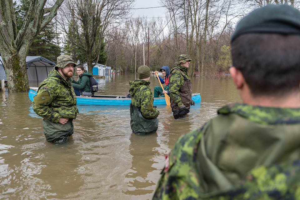 Canada deploys army in flood affected areas