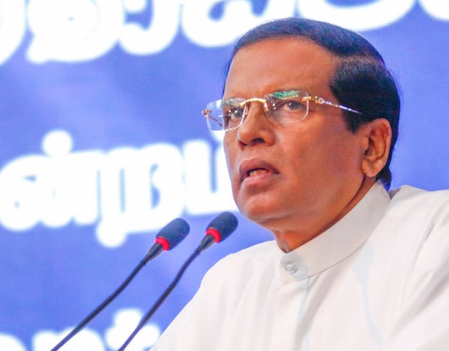 Sri Lankan President Maithripala Sirisena assures action against terrorism