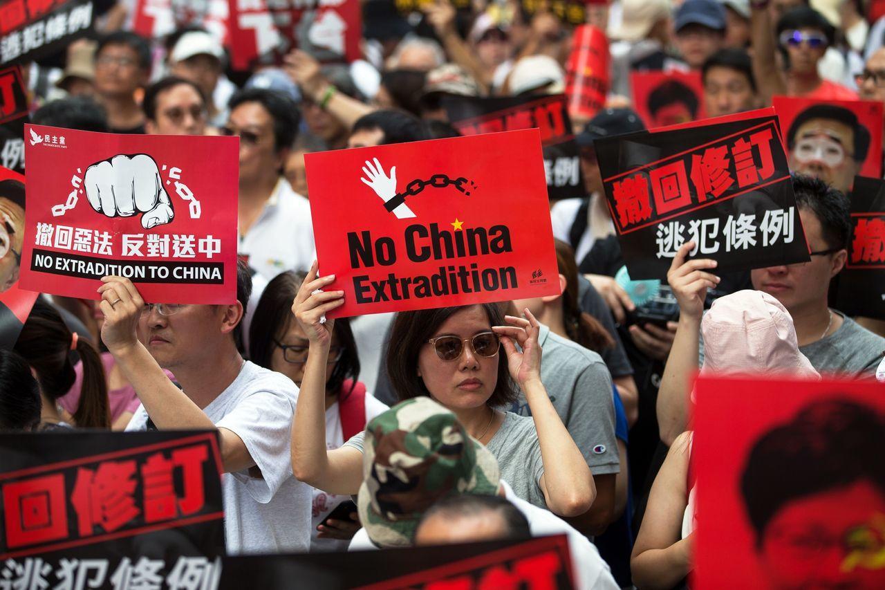 Protests against China extradition bill paralyse Hong Kong