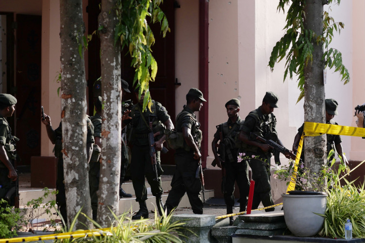 Sri Lanka police carry out controlled explosion on motorcycle near cinema hall