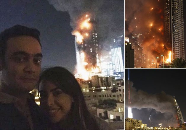 Twitteratti slams couple who took selfie with burning Dubai hotel