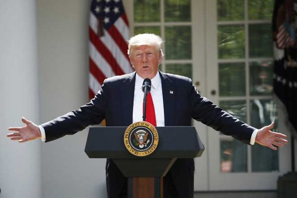 Trump hits back at Iran