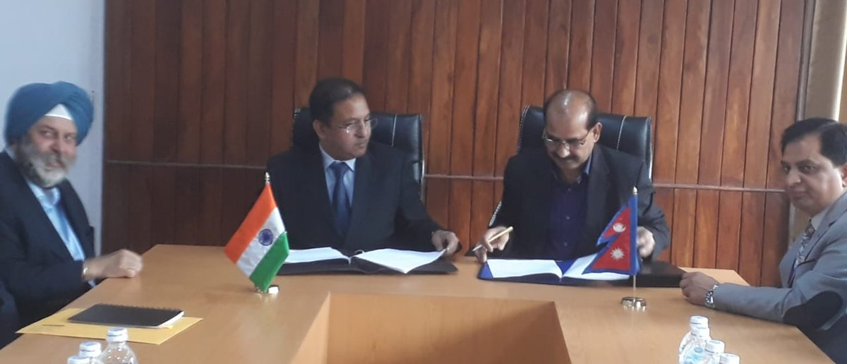 Konkan Railways signs contract agreement with Nepal to supply two DEMU train sets