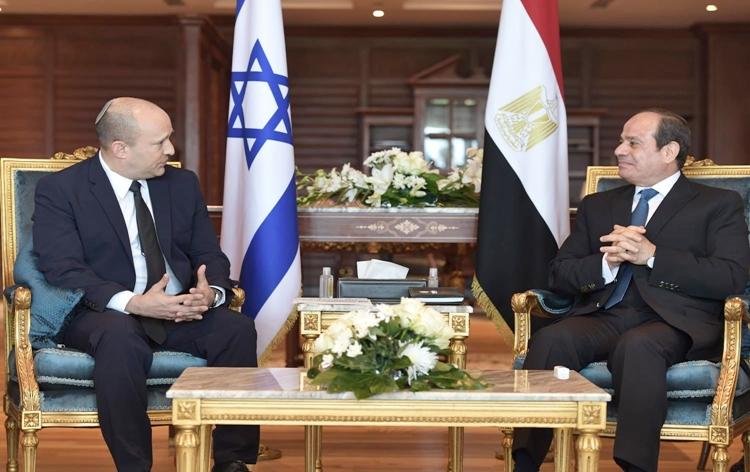 israelipmnaftalibennettmeetsegyptianprezabdelfattahalsisi