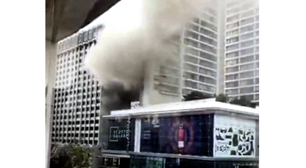 500 evacuated as fire hits luxury hotel in Singapore