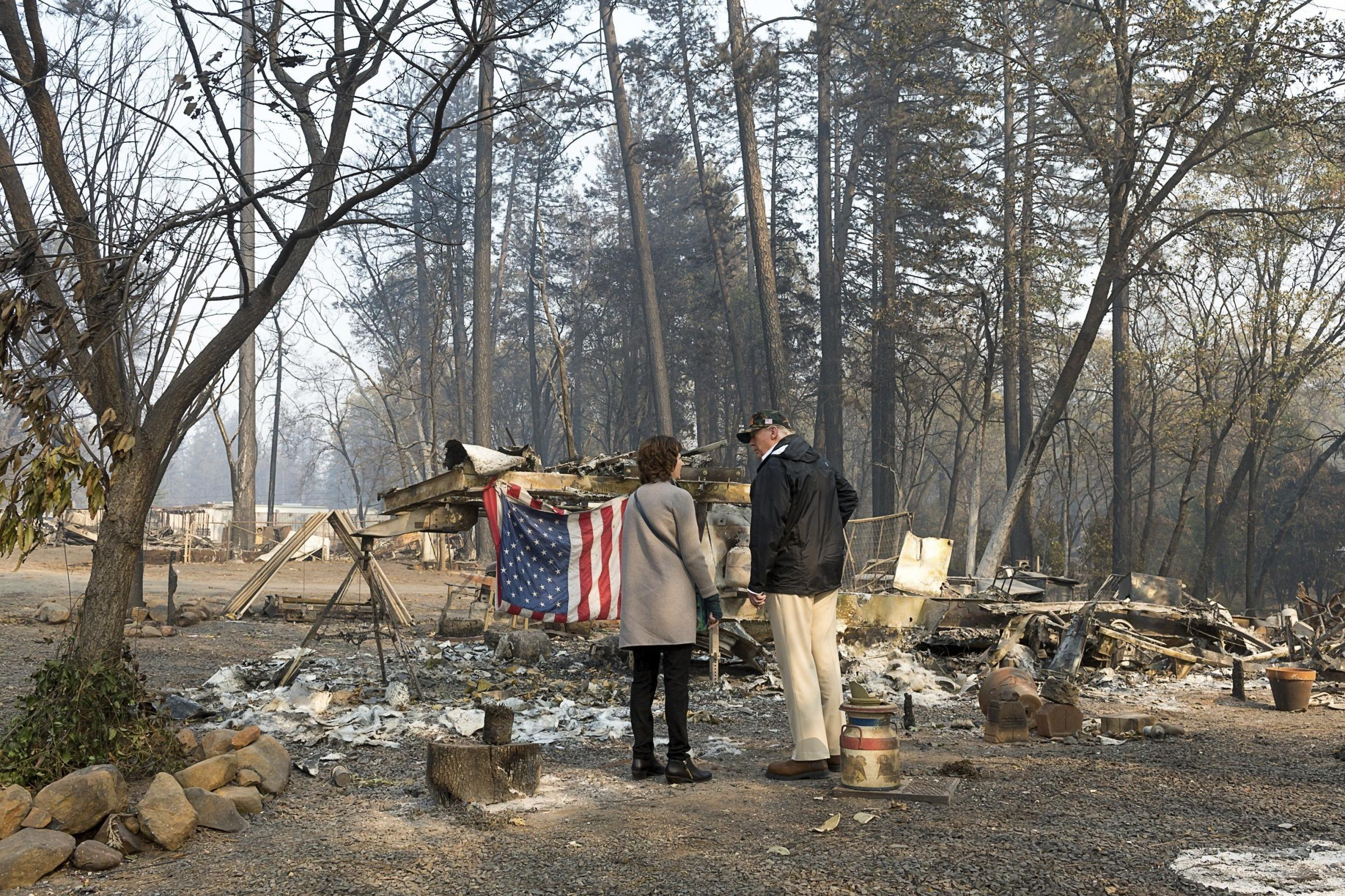 Death toll in wildfire in Northern California in US climber to 76
