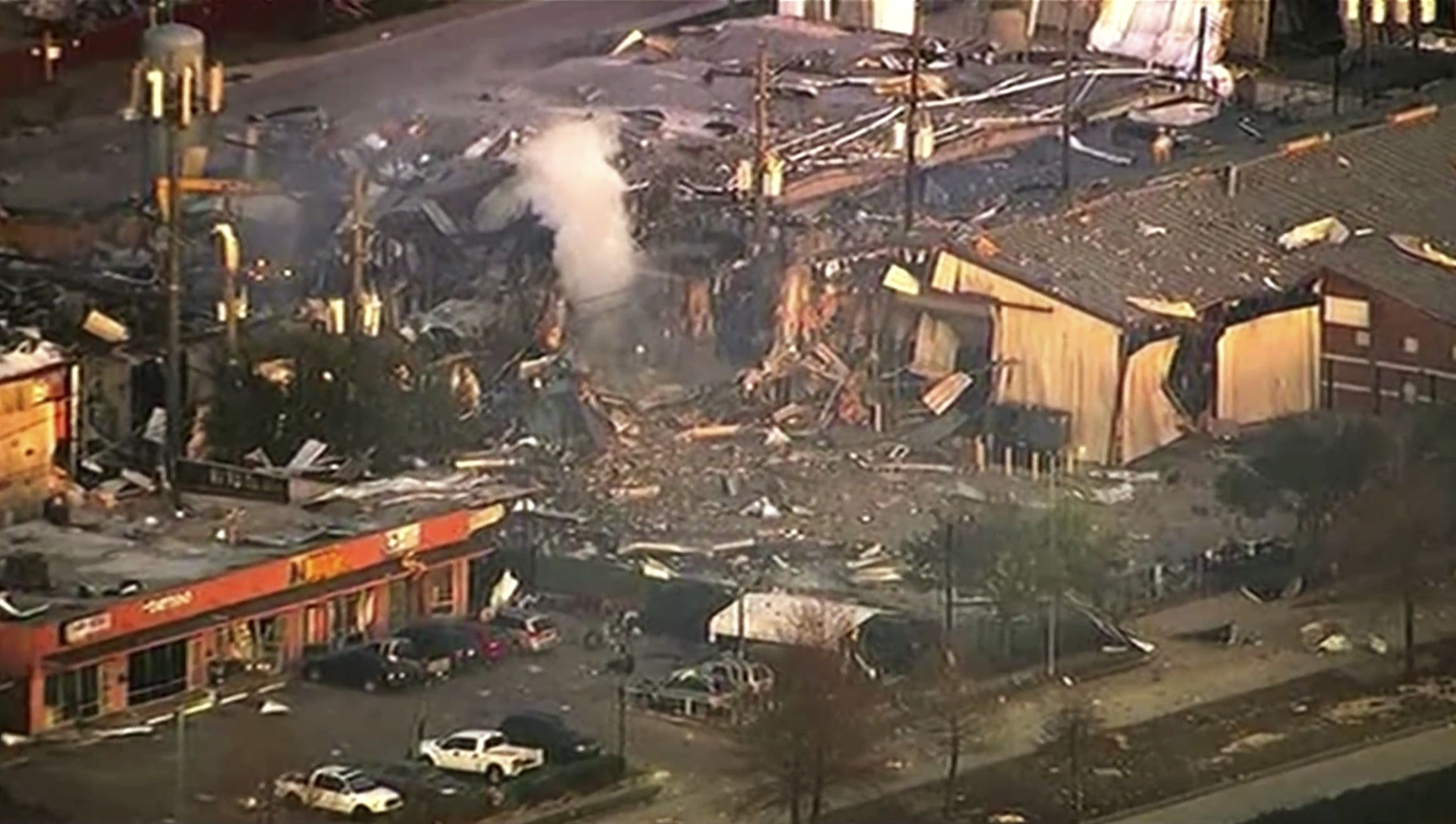 Houston building explosion shakes city