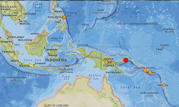 7.5-magnitude earthquake hits off Papua New Guinea