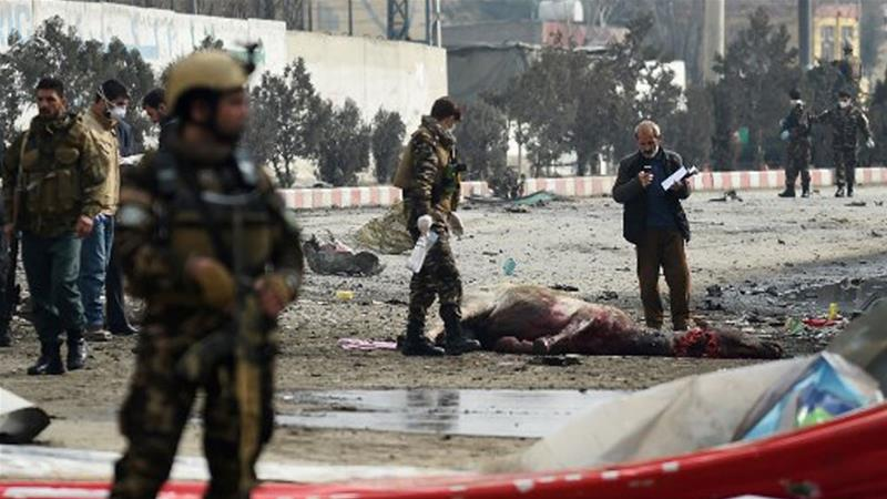 12 killed and 30 injured in a suicide bomber outside govt ministry in Kabul