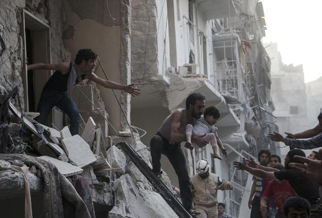 84 people killed in govt air raids in Aleppo,Syria