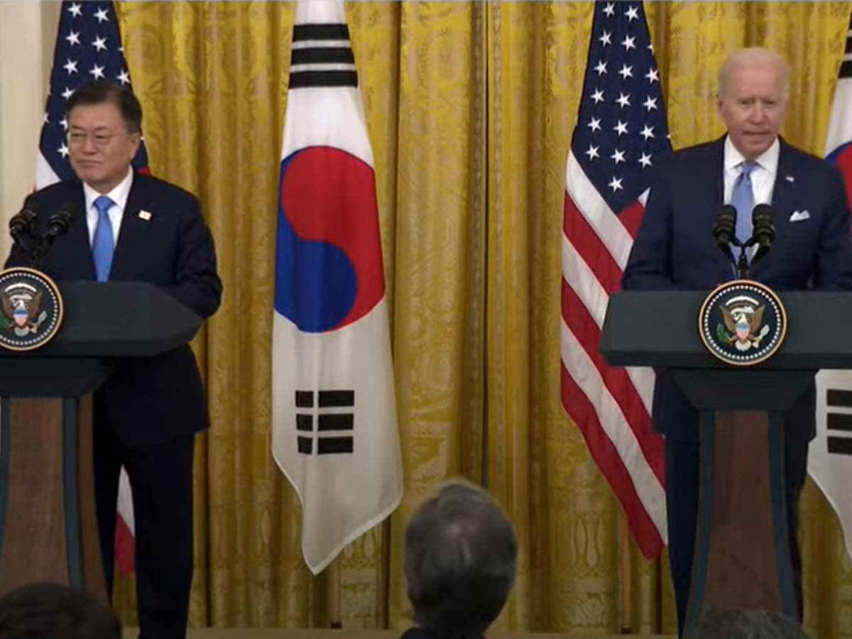 uspresidentbidensouthkoreasmoonexpresswillingnesstoengagenorthkoreaindialogue