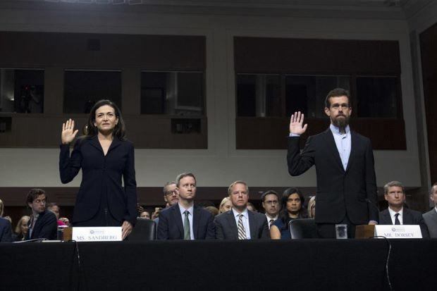 Facebook and Twitter come under US pressure to make rules clearer