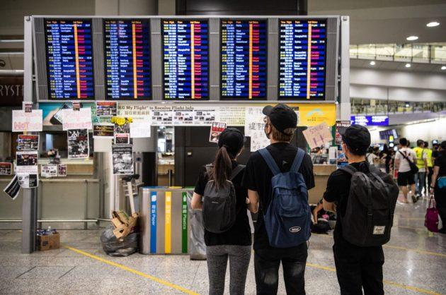 Flights cancelled after Hong Kong protestors target airport