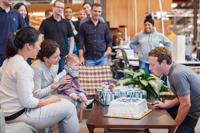 Zuckerberg rings in 32nd birthday with daughter Max